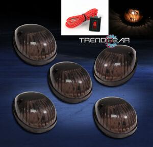 5PCS SMOKE CAB ROOF LIGHTS LAMPS FORD F150 F250 F350 F450 F550 SUPER DUTY RANGER