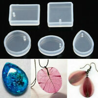 5pcs DIY Silicone Mould Mold for Resin Round Necklace Jewelry Pendant Making