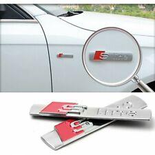 2x S Line Badge Emblème Autocollant Logo Chrome Audi A3 A4 A5 A6 Q3 Q5 TT