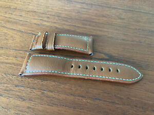 Panerai Brown Leather OEM Watch Strap for Tang Buckle 26/22MM for 47MM Watch