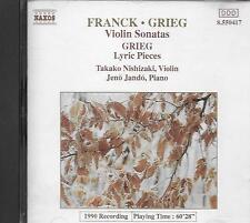 CD album: Franck: Grieg:  Nishizaki, Violin. Jando, Piano. Naxos. N