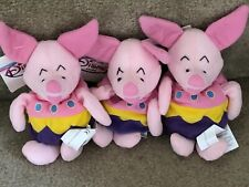 DISNEY Store Bean Bag Plush 3 Little Easter Egg PIGLETs**NEW & Mint with Tags,