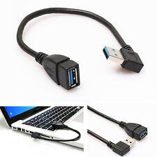 LC_ USB 3.0 femelle à mâle a angle droit 90 degrés Adaptateur Câble rallonge fin