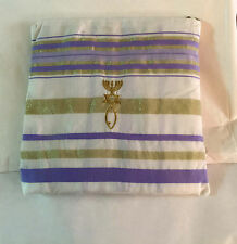 "Purple & Gold New Covenant Messianic Tallit Prayer Shawl & Tallit Bag 22"" X 72"""
