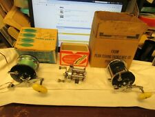 3 VINTAGE FISHING  REELS 1 SHAKESPEARE AND 2 PENN ALL IN BOXES