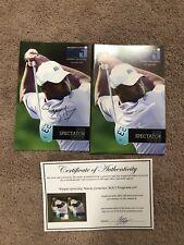 Wayne Gretzky & Mario Lemieux Autographed Michael Jordan Golf Guides w/Coa Hof