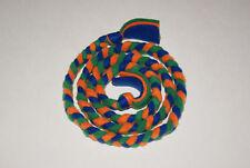 New 4ft Florida Gators Colored Blue Orange Green Handmade Braided Fleece Cat Toy