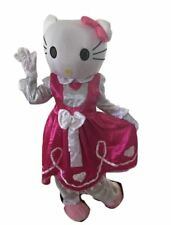 Hello Kitty Adult Mascot Costume Halloween Happy Birthday Girl Party Pink Cat HK