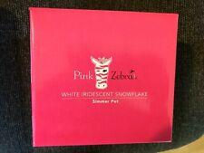 "Pink Zebra White Iridescent ""Snowflake"" Simmer Pot w/Sprinkles"