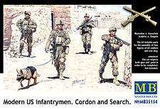 Master Box — Modern US infantry — Plastic model kit 1:35 Scale #35154