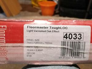 floormaster tough loc light varnished oak effect laminate