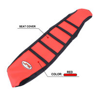 Pro Ribbed Red Gripper Soft Seat Cover For Honda CRF150R 2007-2017 Motorcycle
