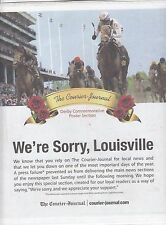 """Kentucky Derby Winners 29 posters Louisville Newspaper Special Section 11""""x10.5"""""""