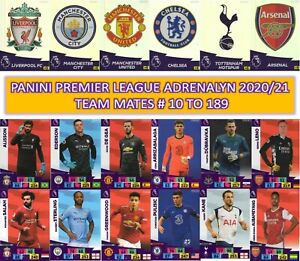 Panini Adrenalyn XL Premier League 2020/21 2021 - Team mates cards #10 to #189
