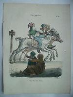 Lito S.XIX Langlume Cortasetos! Cortasetos! Los Bêbêtes Por Pigal Edme Jean 1823