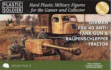 Plastique Soldier WW2G15004 15mm Allemand Pak 40 with Raupenschlepper tracteur