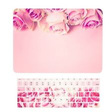 """2016 MacBook Pro 13"""" NO TOUCH BAR A1708, Pink Rose Hard Case + Keyboard Cov"""