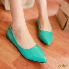 New Sweet Autumn Women's Pointy Toe Patent Leather Flats Casual Comfort Shoes