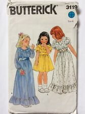 Girls Vintage Frilly Bridesmaid Communion Party Dress Pattern 6 Bust 25 Hips 26