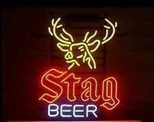 """New Stag Beer Bar Neon Light Sign 17""""x14"""""""