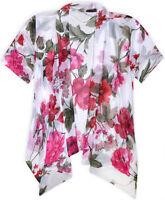 Ladies New Lightweight Summer Floral Front Open Cardigan Womens Boho Chiffon Top