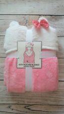 """Kitty Hooded Warm & Snuggly Velvet Fleece Throw Blanket 50""""X 60"""""""