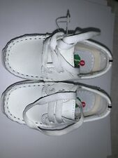 Baby Boy White Leather Loafers Slip on Shoes Toddler Size 3 to 8 Made in Mexico