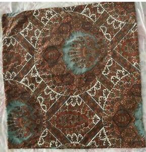 "Three (3) Pottery Barn Sabrina Paisley Velvet Decorative Pillow Covers 24"" Red"
