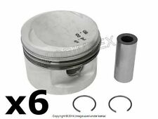 BMW E30 84.50 mm, +0.50 mm Over Piston Set of 6 MAHLE OEM +WARRANTY