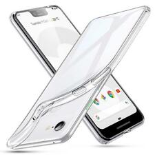 for Google Pixel 3 Case Clear Slim GEL Cover and Glass Screen Protector