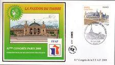 BLOC2+4215+ FDC  ENVELOPPE 1er JOUR BLOC FFAP SALON DU TIMBRE DE L' ECRIT 2008