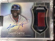 2017 Dynasty David Ortiz Patch AUTO /10 Red Sox Sick $ Nasty Gem