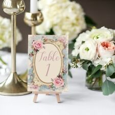 Shabby Chic Table Numbers, Wedding Table Numbers,Pink Rose, Floral Cards