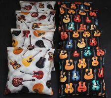Cornhole Bean Bags 8 Aca Regulation Party Game Rock & Roll Guitar