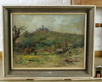 Carl Dörrbecker Oil Painting Older 1973 Königstein Taunus Castle Expressive With