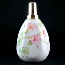 """Jolie LAMPE BERGER PARIS Vintage, Porcelaine de LIMOGES France, """"Fleurs Roses"""""""