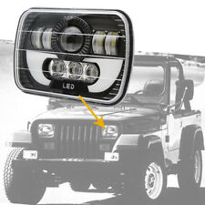 300W LED Headlight Halo DRL For 86-95 Jeep Wrangler YJ 84-01 Cherokee XJ 7x6 5X7