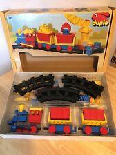Raro Lego Duplo 2700 Tren de Carga Conjunto en caja completa 1986 de estilo vintage y retro
