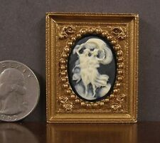 SMALL 1:12  scale ~ 3D  FRAMED CAMEO  PICTURE ~  Dollhouse Miniature Room Box