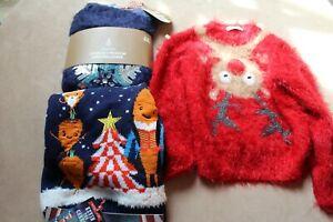 Christmas Jumper Bundle Age 5-6 years New & Used Clothes Kevin The Carrot NEXT