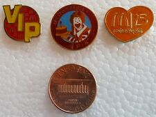 SET 3 UKRAINIAN METAL PINS BADGES UKRAINE McDonald's VIP CLOWN CAKE FAST FOOD