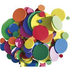 200 MOOSGUMMI KREISE Moosgummikreise groß klein verschiedene Größen Set Mix bunt