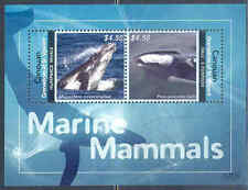 Canouan 2012 Marine Mammals Humpback Whale Dall'S Porpoise Sheet Of Two Mint Nh