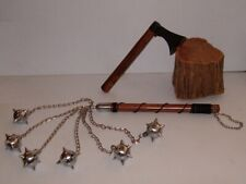 Hand Battle Axe + Six Ball Battle Mace ,Medieval , Viking, Middle Age Weapons