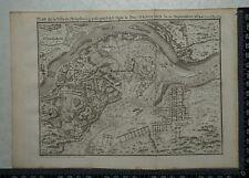 1766 antique Carte de Philipsbourg 1644-Louis de Bourbon, Prince de Conde.