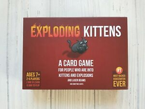 Exploding Kittens Card Game Original Edition Family Party Strategy Fun Ages 7+