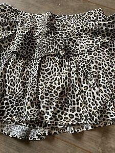 Zara Leopard Shorts Size M New
