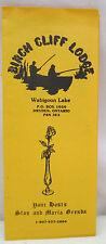 Vintage Brochure Birch Cliff Lodge Wabigoon Lake Dryden Ontario Canada 1987-88