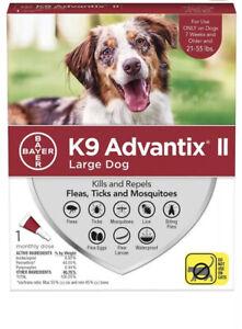 Bayer K9 Advantix II Flea Tick Mosquito Large Dogs 21-55 lbs - 1 treatment Dose