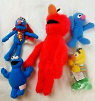 Vintage Cookie Monster,Grover,Bert,Elmo Sesame Street Muppets Plush Toys Figures